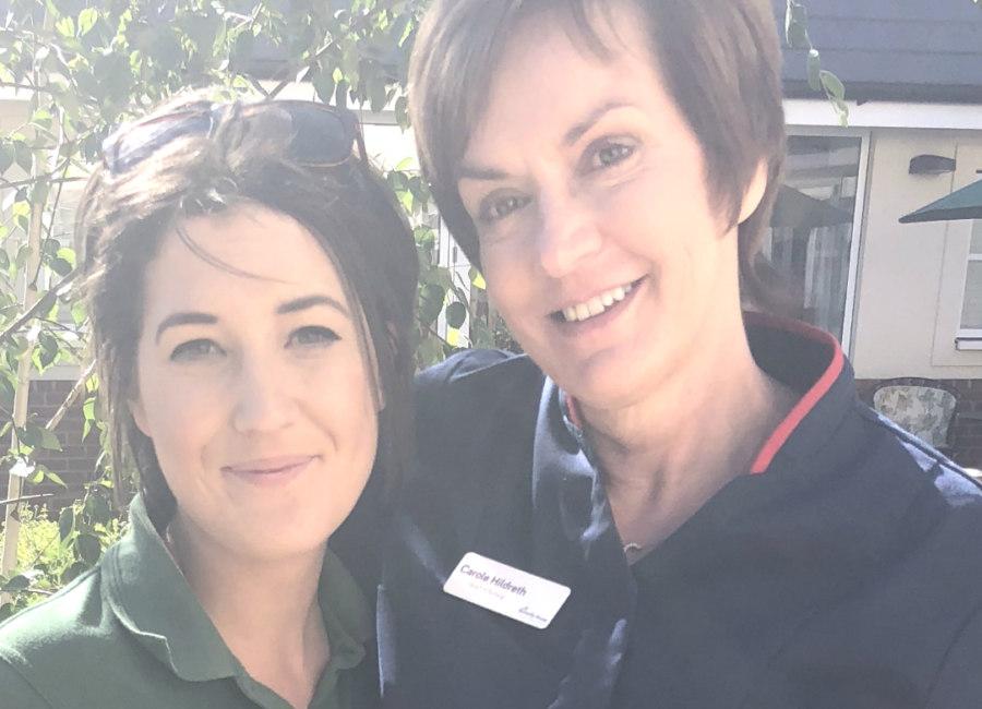 Charlotte Launder With Nurse Carole Hildreth Edited Really Small