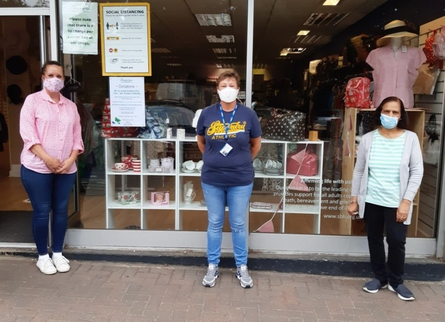 Staff Outside Hz Hospice Shop